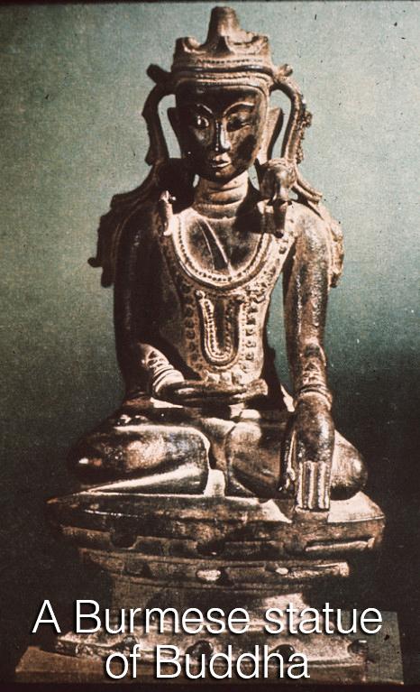 A Burmese idol statue of Buddha