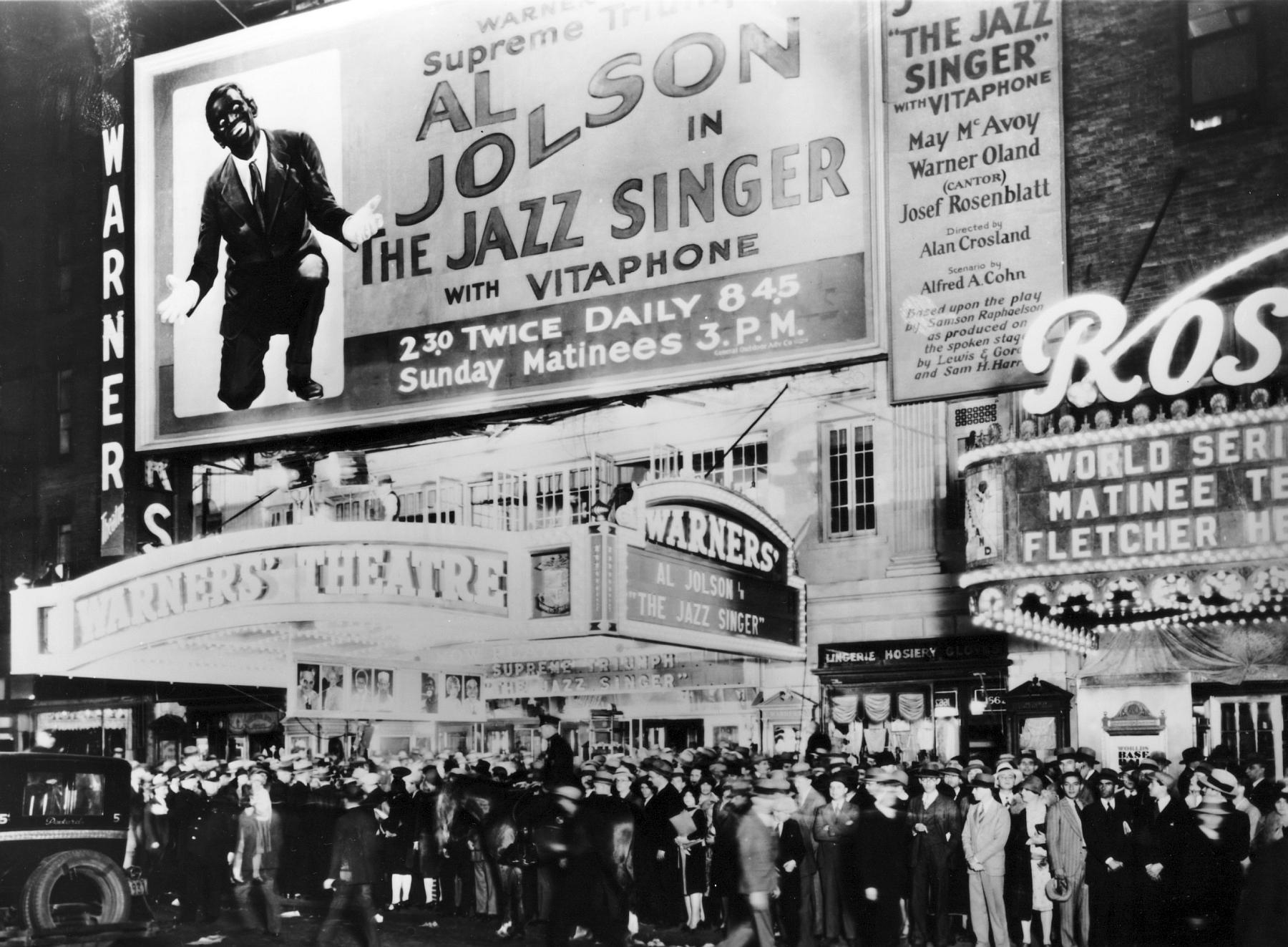 The Al Jolson movie premiere, The Jazz Singer