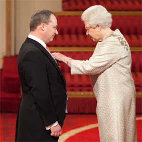 Honoured by Queen Elizabeth