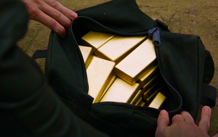 Gold Bullion brought to Heaven's Gates in a bag
