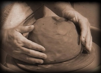 Potter with a lump of clay - a Biblical picture of our spiritual development in Christ
