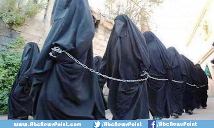 Women being abused by ISIS