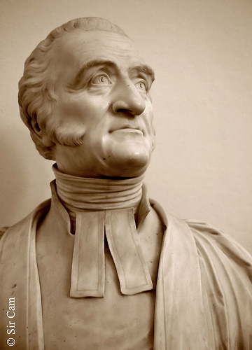 Bust of Charles Simeon in Holy Trinity Cambridge
