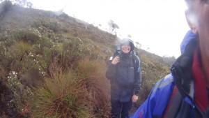 Kim hiking