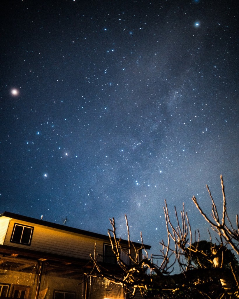 The Milky Way clearly visible over my house from my backyard