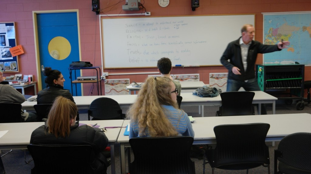 Andrew Corbett teaching at Launceston College
