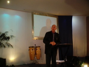 David Cartledge preaching at Legana in 2003