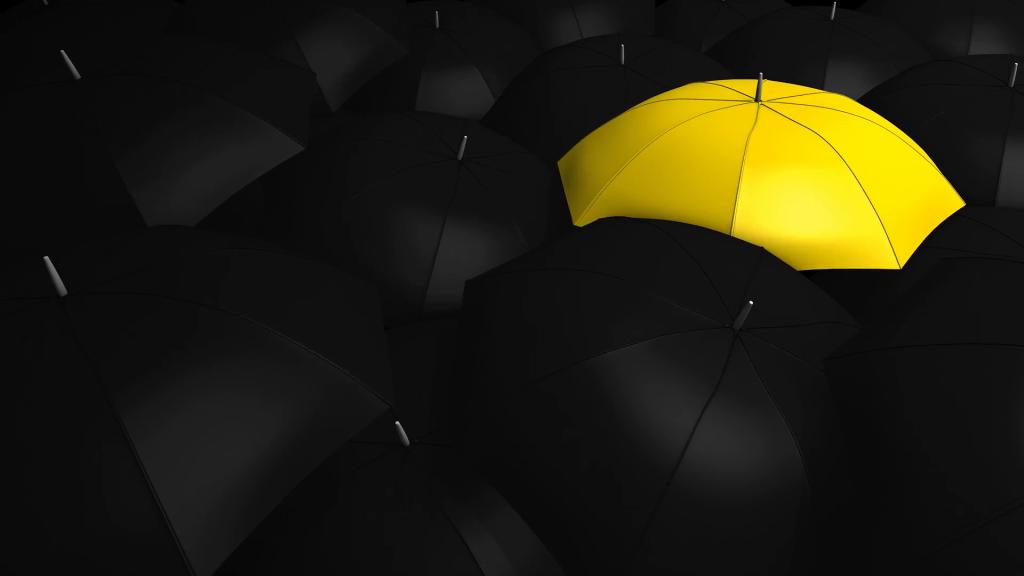 crowd-with-umbrella-with-1-unique-color