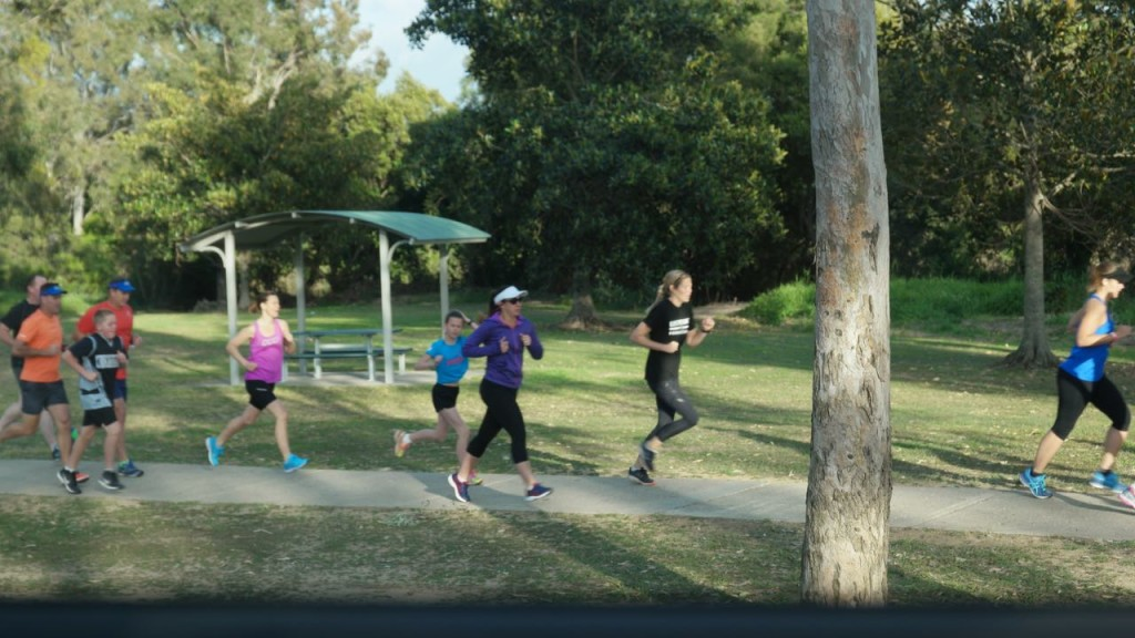 Kim Corbett doing Park Run in QLD