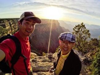 John Allen Chau chatting someone he met on a hike