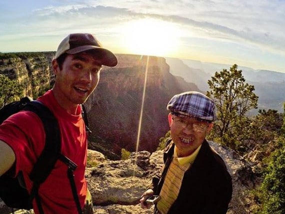 John Allen Chau chatting someone he met on a hike