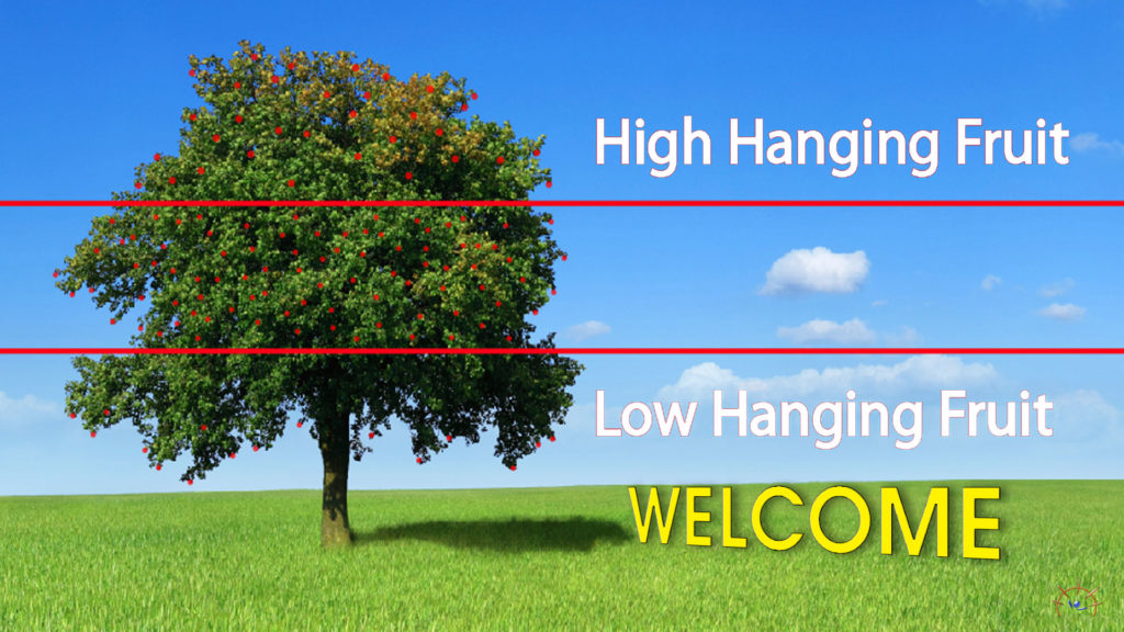 Picking 'low hanging fruit' involves welcoming people to our church