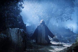 Jesus praying.