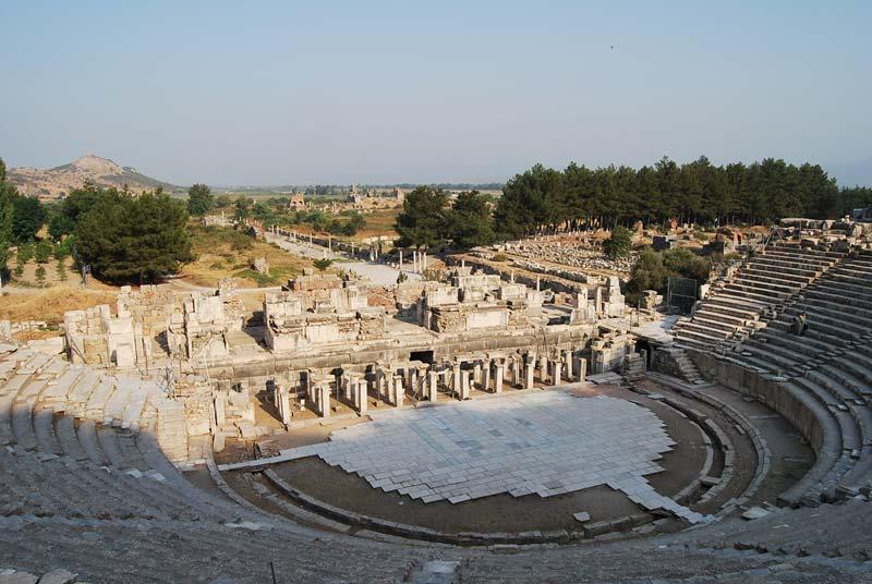 The ancient amphitheatre in Ephesus