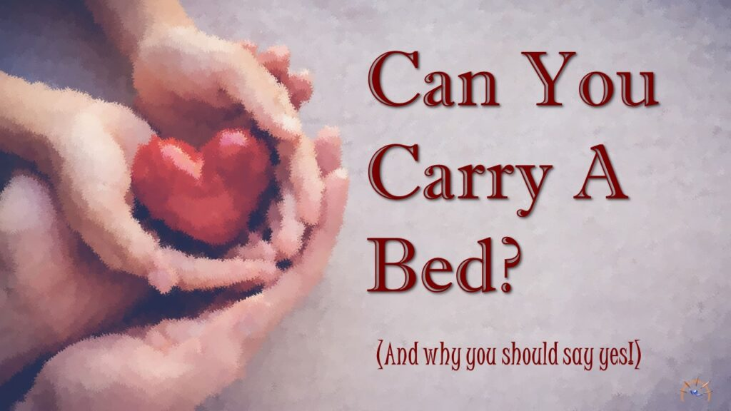 Pastor Donna Hill preaching- Can You Carry A Bed?