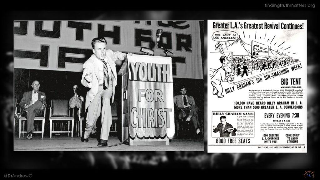 Billy Graham preaching in Los Angeles 1947