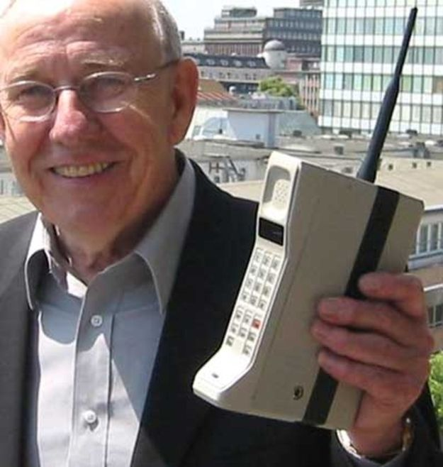 One of the first mobile phones in the 1990s was soon likened to carrying a brick around